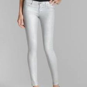 AG Silver Shimmery The Absolute Legging Skinny 31R